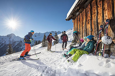 Alpbach ski hut by train
