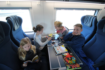 children on Eurostar