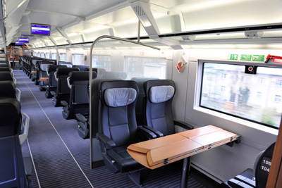 ICE Brussels to Koln train interior