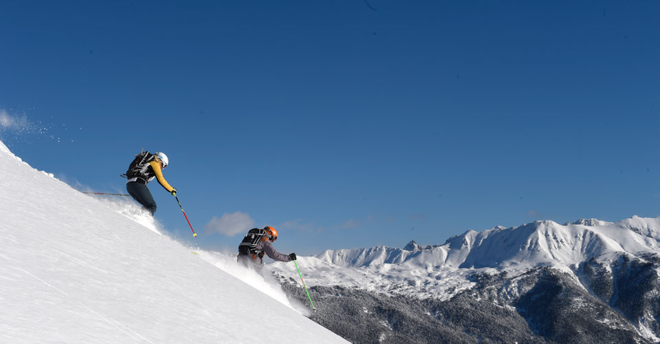Photo: Agence Zoom - Serre Chevalier skiing