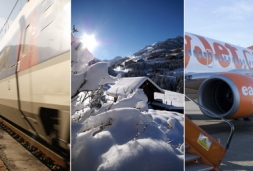 """ski train"" ""snow train"" race to Alps"
