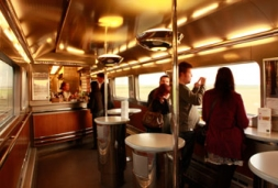 Eurostar Ski Train cafe bar